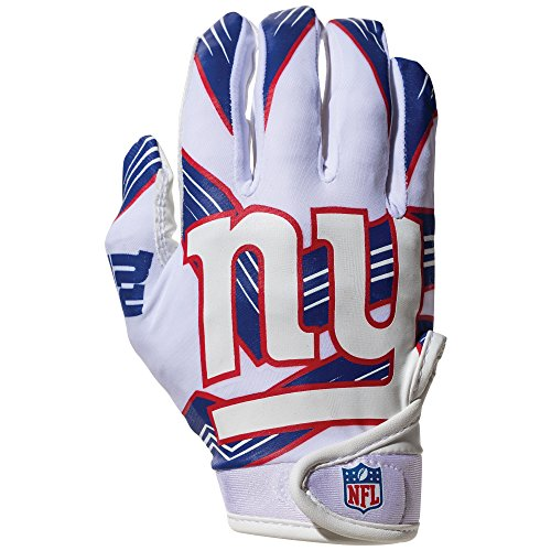 Franklin Sports NFL New York Giants Youth Receiver Gloves,White,Medium (Nfl Football Glove)