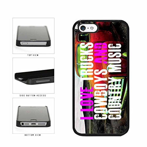 BleuReign(TM) Country Girls Love Trucks Cowboys And Country Music Plastic Phone Case Back Cover Apple iPhone 5 5s
