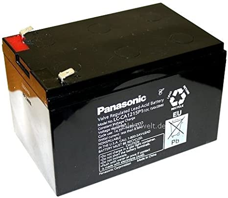 Panasonic LC batería de plomo de gel de ca1215p1S de patinete Skooter 12V 24V 36V Accu batería battery Bateria