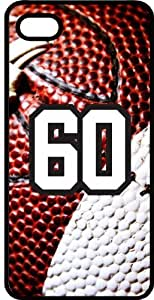 Baseball Sports Fan Player Number 60 Black Plastic Decorative iPhone 4/4s Case by lolosakes