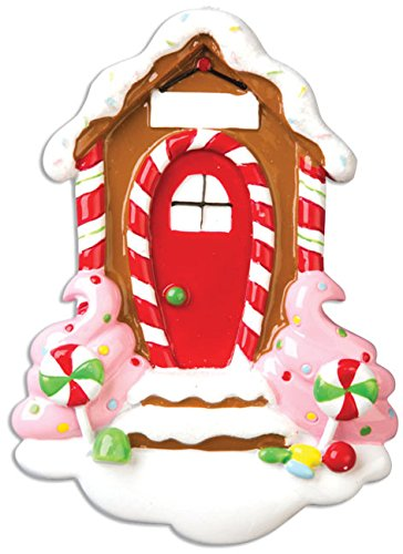 Personalized Home Sweet Christmas Tree Ornament 2019 - Candy Snow Cookie Door Ice Cream Cane Gingerbread House New 1st Elegant Front Mate Room Neighbor Year - Free Customization