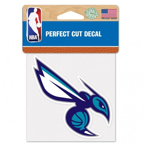 (WinCraft NBA Charlotte Hornets Perfect Cut Color Decal, 4