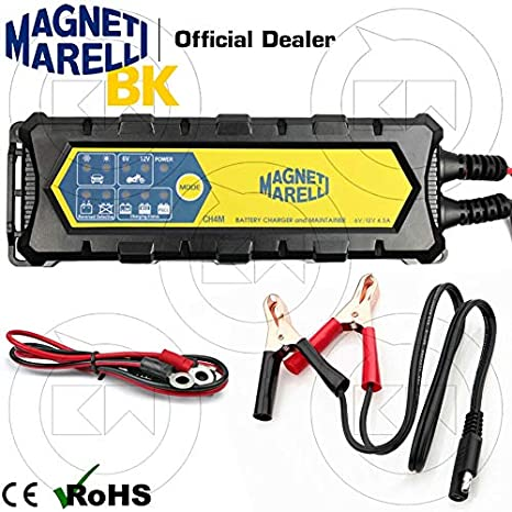 Caricabatterie Mantenitore 6//12V Auto Moto Camper Ecc Carica Batterie Piombo Gel