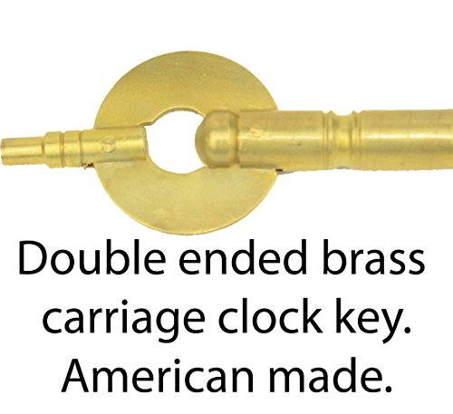 Double Ended Brass Carriage Clock Key  4 0Mm 1 8Mm  American Made  Winder Winding Key Service Parts