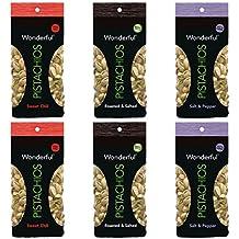 Wonderful Pistachios - 100 Calorie Variety Pack 3 Flavors, 6 Total Bags