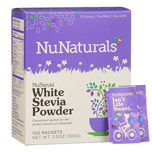 (NuNaturals - NuStevia - Maltodextrin Powder - All-Purpose Sweetener - 50 Count)