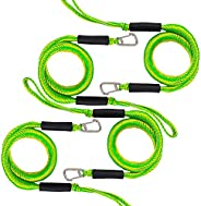 Bungee Dock Line with Hook Mooring Rope for Boat 4 ft