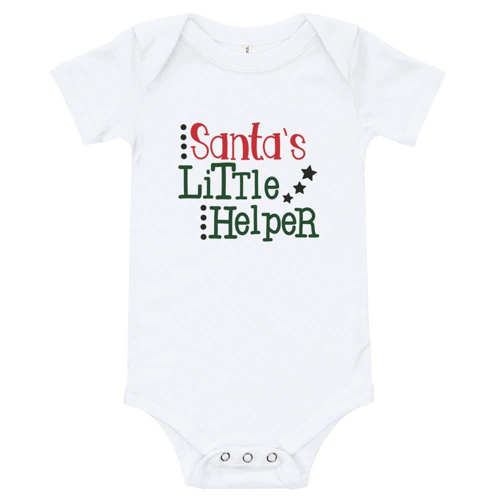 Cheeky Apparel Santas Little Helper Baby Onesie//T-Shirt Bodysuit Xmas Gift