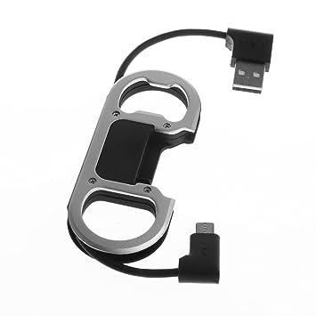 MagiDeal Llavero Cargador USB Cable de Cable de ...
