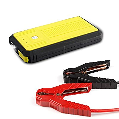 Markcars 300A Peak 13200 mAh Compact Car Jump Starter(12V 4.0L Gas) Portable Power Bank with Smart USB Charging Port Auto Battery Booster with LED Flashlight