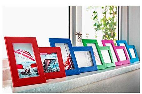 Ikea nyttja frame 5x7 set of 2 frames turquoise blue for Ikea cornici foto