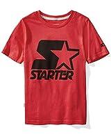 Starter Boys' Short Sleeve Logo T-Shirt,...