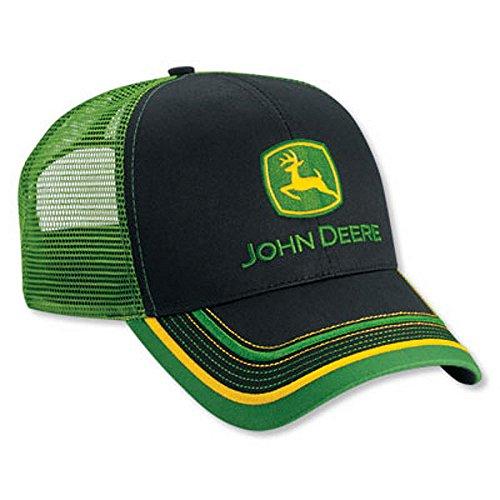 9a6c67f97c06e3 Mens John Deere Hat Cap (Black Green Mesh) - LP52392 - Import It All