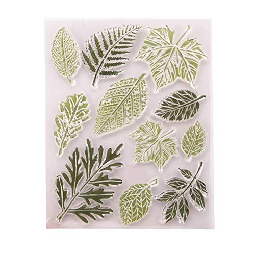 (Different Type Leaves Maple Palm Leaves Rubber Clear Stamp/Seal Scrapbook/Photo Album Decorative Card Making Clear Stamps)