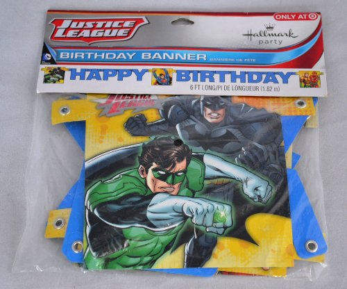 Justice League Rescue Happy Birthday Banner (1ct)