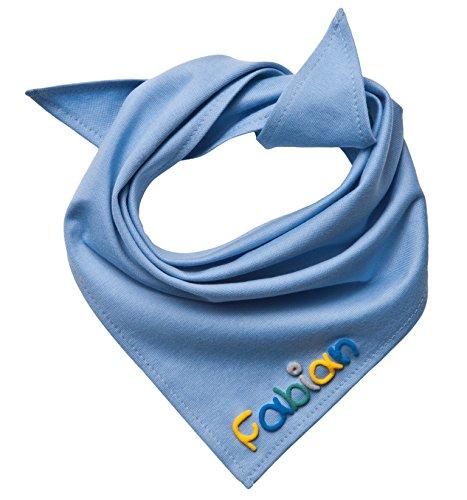Mein Name Halstuch, Hellblau mit Namen Unisex - 45x45cm, Dreieckstücher Dreieckstücher Mein-Name