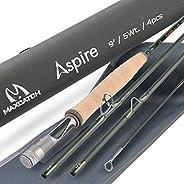 M MAXIMUMCATCH Maxcatch Aspire - Fly Fishing Rod 40T Carbon Fiber, Anodized Reel Seat, 4-Piece, 5/6/8 wt