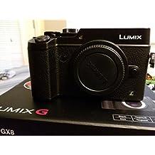 Panasonic Lumix DMC-GX8 Mirrorless Micro Four Thirds Digital Camera (Black Body Only) (International Model no Warranty)