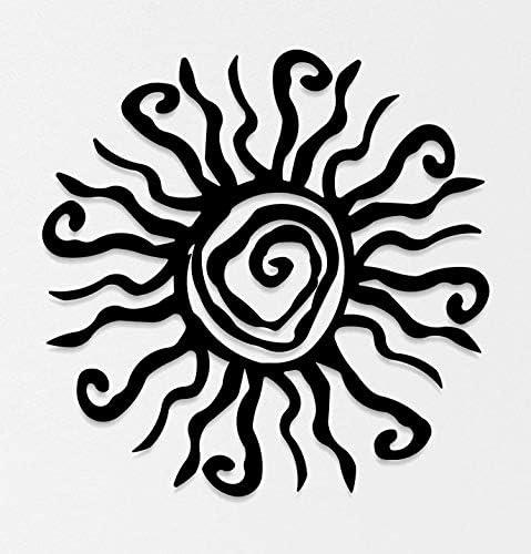 Abstract SUN Metal Wall Art