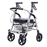 OOFAY Drive Medical Aluminum Rollator Fold Up and Removable Back Support Rollator Walker