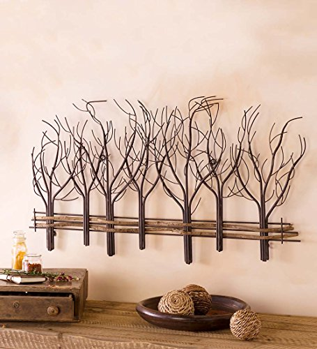 - Metal and Natural Vine Tree Wall Art - 35 L x 22 H x 1 D