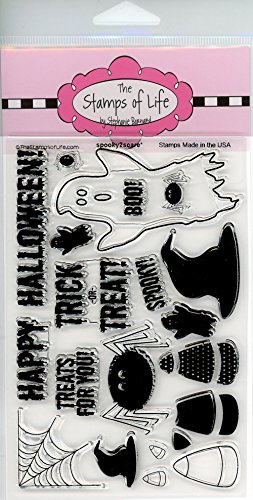 Scary Halloween Scrapbooking Stamps for Card Making by The Stamps of Life - Spooky2Scare