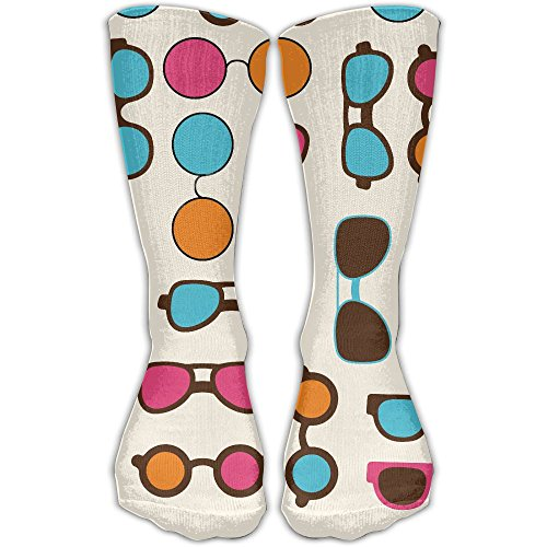 ZqCr Colorful Eyeglasses Novelty Cotton Crew Socks Casual Ankle Dress Socks For - Eyeglasses Website