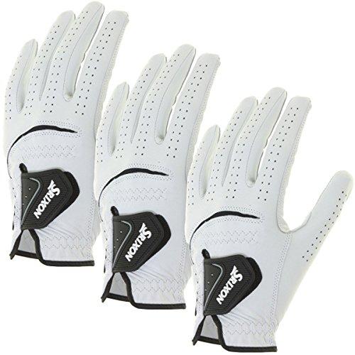 Srixon Herren 2009 Leder Golfhandschuh (Linke Hand) - Weiß, M - Packung mit 3 Stück