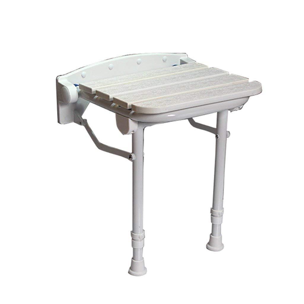 即納!最大半額! WYT-0909 折り畳み可能な木製の壁のシャワーのスツールウォールマウントされたシャワーシートスツール折りたたみ木製のチェンジシューズ高齢者/障害者のためのスツール調節可能な脚を持つアンチスリップシャワーシートスツールホワイトスツール最大。 250kg バスルーム用 バスルーム用 B07FMFR9BW B07FMFR9BW, DECOR Plus:f00d635d --- ciadaterra.com