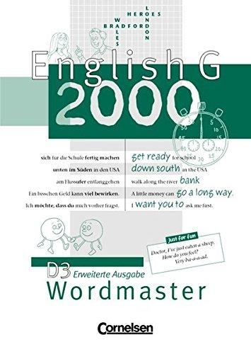 English G 2000 - Erweiterte Ausgabe D: English G 2000, Ausgabe D, Wordmaster, Erweiterte Ausg.