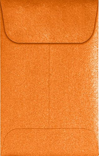 #1 Coin Envelopes (2 1/4 x 3 1/2) – Flame Metallic (1000 Qty.) | Perfect for The Holidays, Weddings, Parties & Place Cards | Fits Small Parts, Stamps, Jewelry, Seeds | 1CO-M38-1M