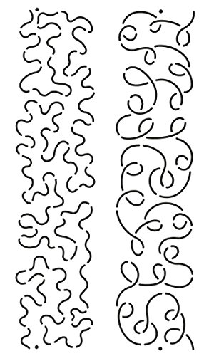 (Quilting Creations Loop and Stipple Sashing Quilt Stencil, 2-1/2