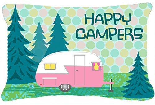 Caroline's Treasures Happy Campers Glamping Trailer Fabric Decorative Pillow, 12
