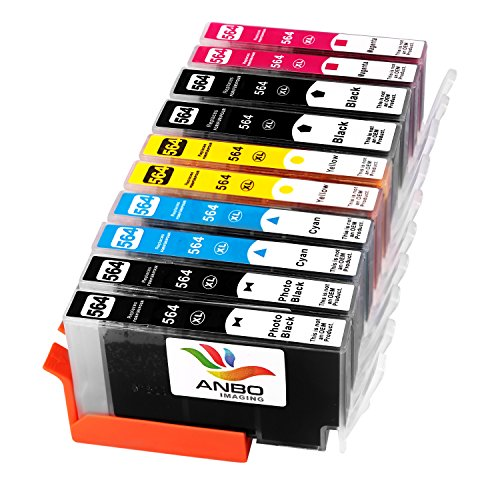 Anbo 10Pack Replacement HP 564XL ink Cartridge High Yield (2 (Replacement Cartridge Insert)