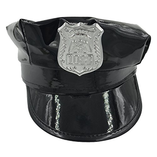 [Costume Accessory Party Black Policeman Police Cop Hat Cap For Women] (Policeman Hat Costume)