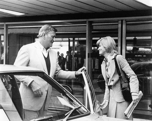 Judy Geeson John Wayne Brannigan at Heathrow Airport London 16x20 - Wayne John Airport