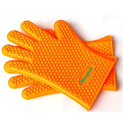 New 2016 Large iMagitek Silicone Oven Mitts Heat Resistant Gloves for BBQ