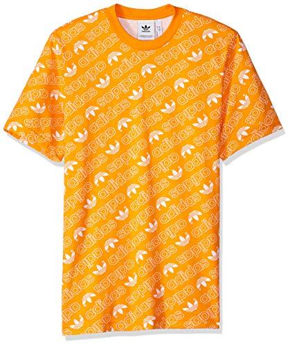 arancio stampa shirt brillante Xl uomo Originals con Adidas monogramma T per 8pwqxfq