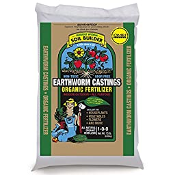 Unco Industries Wiggle Worm Soil Builder Earthworm Castings Organic Fertilizer, 15-Pound