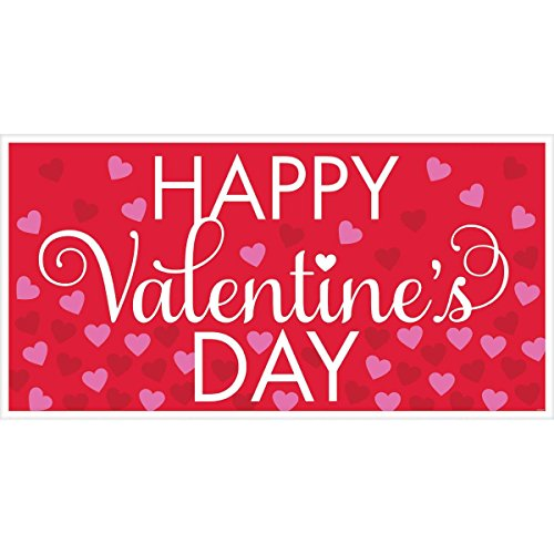 Amscan Valentine's Day Large Horizontal Greeting Banner Wall