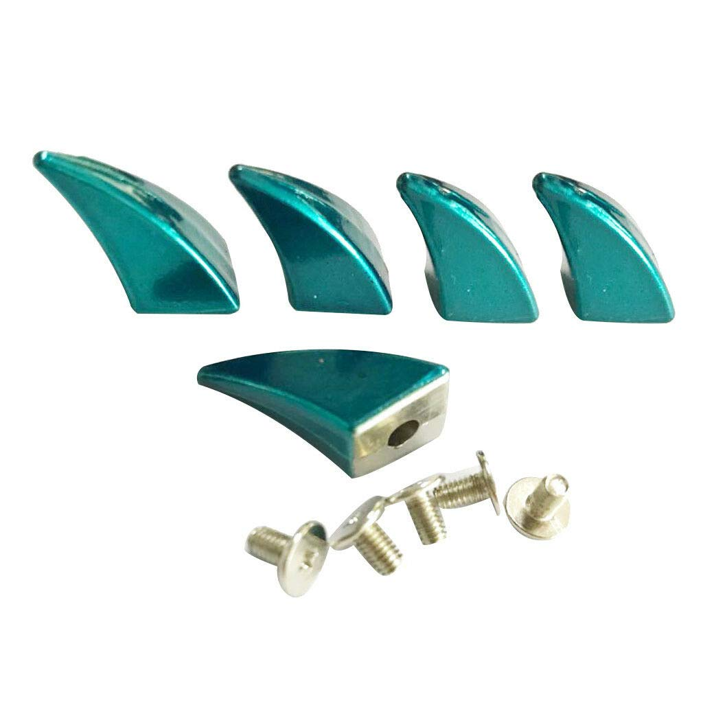 5x Horn Shape Punk Studs Rivets for DIY Bag Shoes Hat Belt Decoration Silver