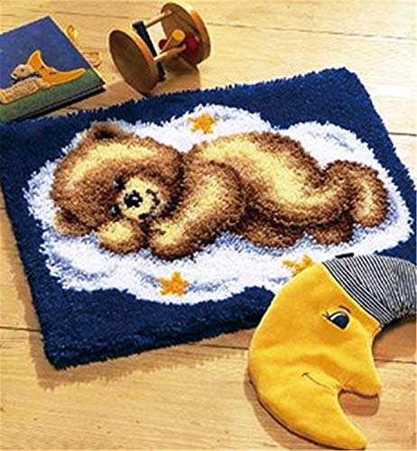 14 Model Bear Latch Hook Kit Rug Bear004 21 by 15 Inch by BYT collection