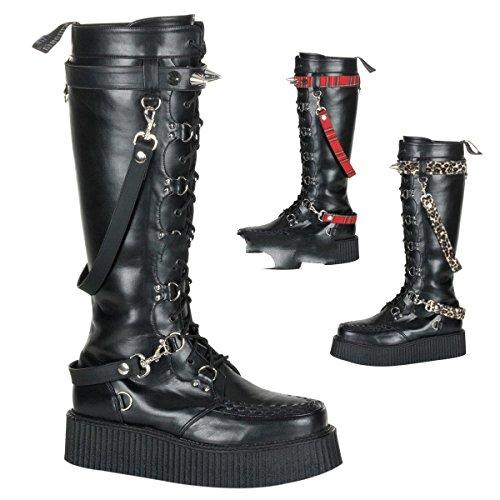 Demonia V-Creeper-588 - gothique punk Creeper bottes chaussures unisex 36-48