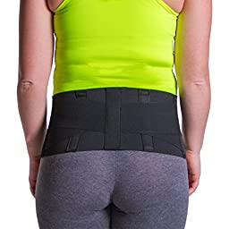 Lower Back Muscle Strain & Lumbar Injury Compression Support Belt - L