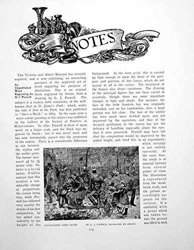 old-print Print Notes Unpublished Woodblock Gj Pinwell Chalice 4 Pages 1906 125Q115