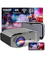 Artlii Energon 2 Native 1080P projector, 4K Supported, Bluetooth 2.4G/5G Wifi Projector, 340ANSI, Screen Miracast, Keystone, Zoom, Dolby Supported, Ideal for Outdoor Party, Carrying Case, Compatible with iOS/Android/PC/TV Stick/PS5
