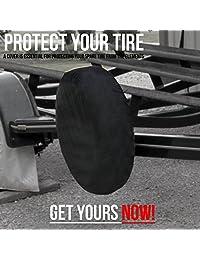Cubierta de neumático de repuesto   Accesorios de coche imprescindibles para su SUV, Jeep, RV, remolque, camión   Se adapta a la mayoría de tamaños de rueda por Kankesh, Negro
