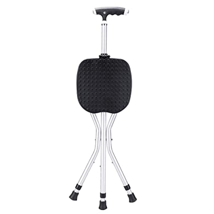 Wondrous Amazon Com Zjfsx Cane Seat Folding With Led Light For Caraccident5 Cool Chair Designs And Ideas Caraccident5Info