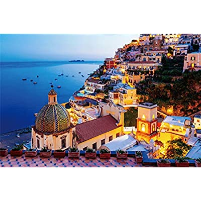 Jigsaw Puzzle 1000 Pieces Game Toys Gift Large Puzzle Game Artwork for Adults Teens Floor Puzzle Intellectual Game Learning Education Decompression Toys for Adults Kids The Amalfi Coast: Toys & Games