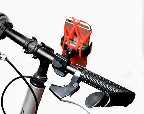 FLy Universal Mountain Road Bike Bicycle Motorcycle Handlebar Cradle Holder with Silicone Belt for iPhone 7/7 Plus/6/6s Plus/5S/5C Samsung Galaxy S6/S7 Edge Note 5/4/3 LG G4/G5